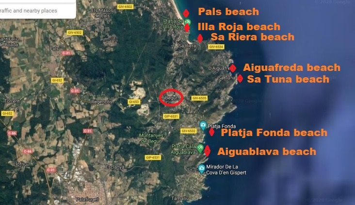 The beaches of Begur