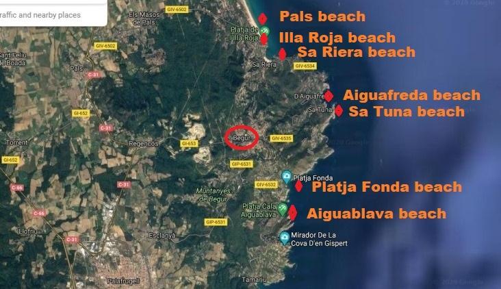 Las playas de Begur.